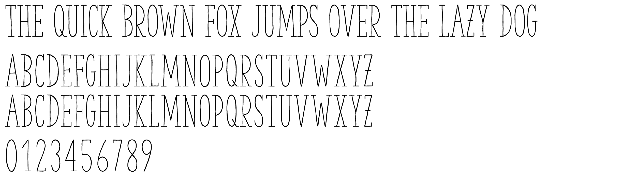 The Hand Serif Regular