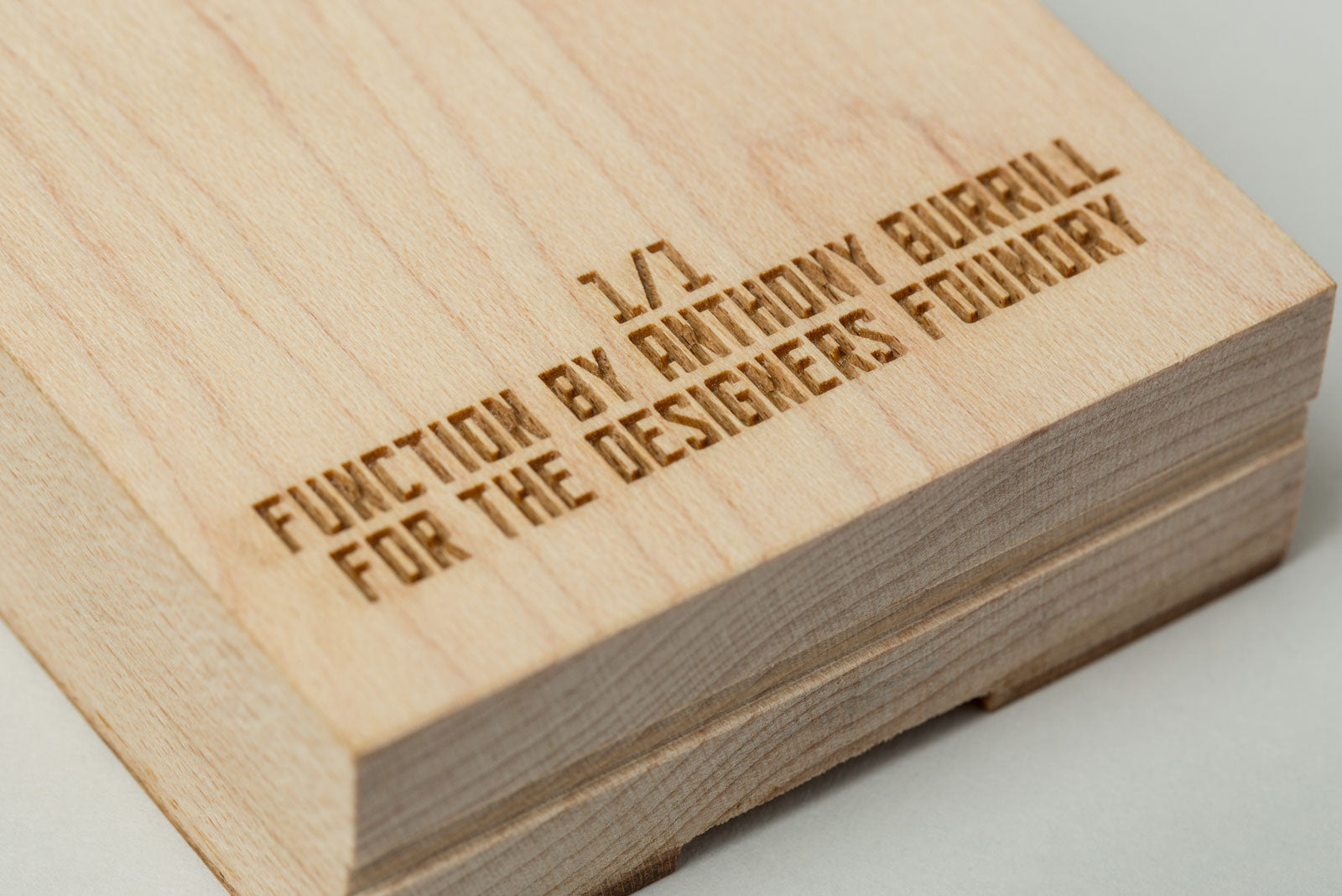 Anthony Burrill x TDF Woodblocks