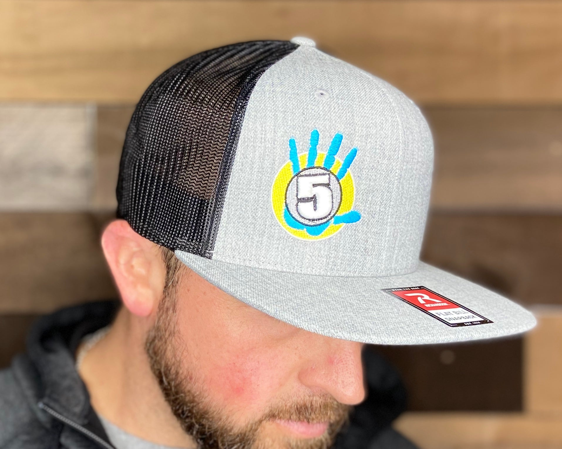 High 5 OG Flat Bill Hat (heather/black/flat)