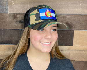 High 5 Colorado Patch Curved Bill Hat (camouflage/black)