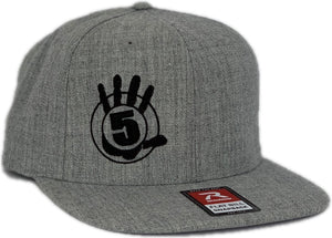 High 5 Flat Bill Hat (heather)