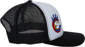 High 5 Colorado Curved Bill Hat (white/black)