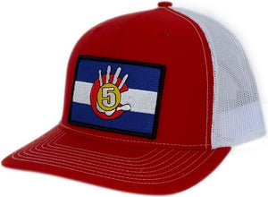 High 5 Colorado Patch Curved Bill Hat (red/white)