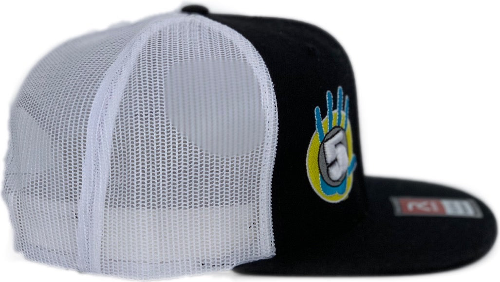 High 5 OG Flat Bill Hat (black/white/flat)