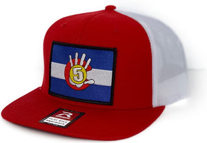High 5 Colorado Patch Flat Bill Hat (red/white/flat)