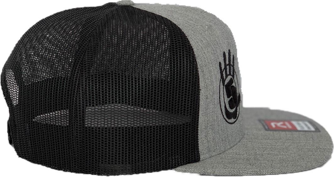 High 5 Flat Bill Hat (heather/black/flat)