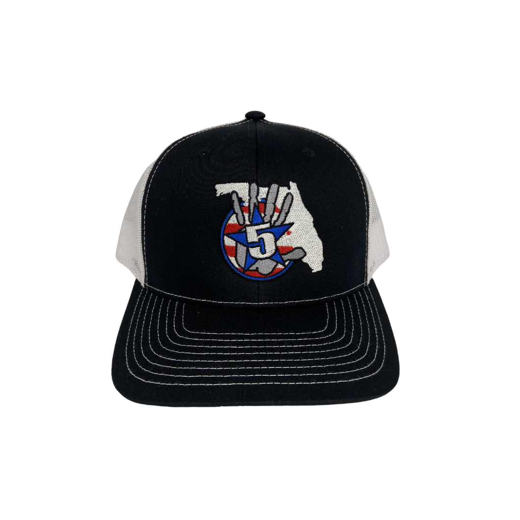 High 5 Freedom Florida Curved Bill Hat (black/white)