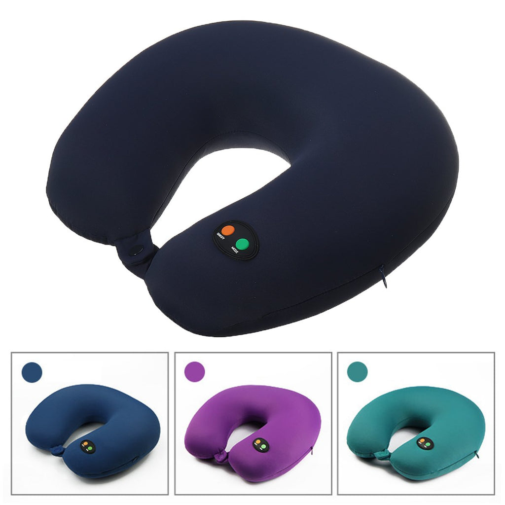 Portable 6 Modes USB Rechargeable U-Shaped Neck Massager Electric Massager Cervical Vertebra Cushion Pillow Massager