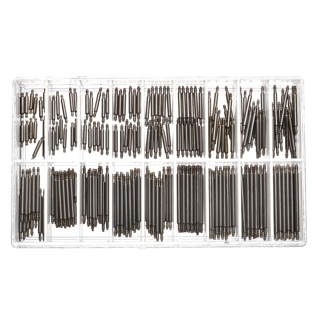 380Pcs Watch Repair Tool Kit 8mm~25mm Spring Bars Strap Pins Link Remover Wrench