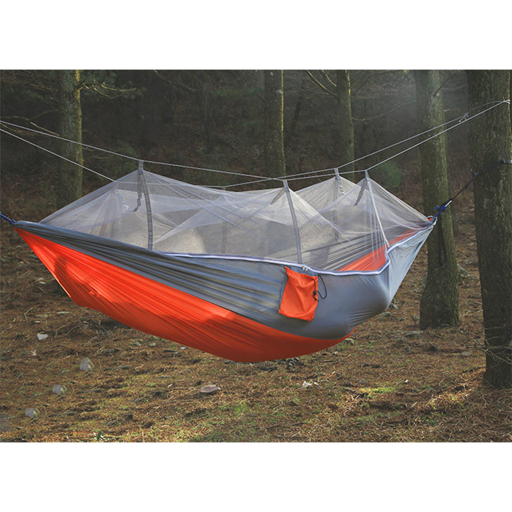 300kg Portable Double Camping Hammock Parachute Fabric With Mosquito Net