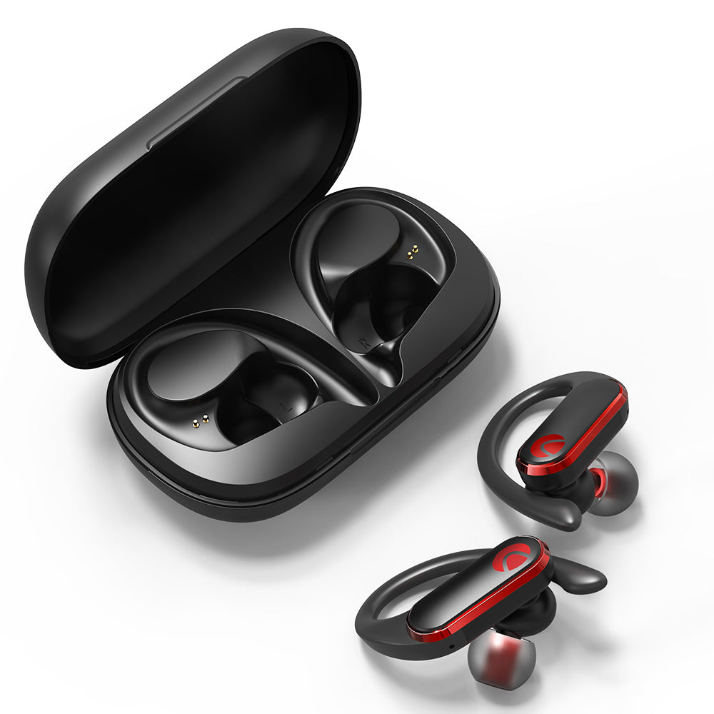 BlitzWolf® AIRAUX AA-UM3 TWS bluetooth Ear-hook Earbuds HiFi Stereo Smart Touch HD Calls Waterproof Earphone with Exquisite Charging Box