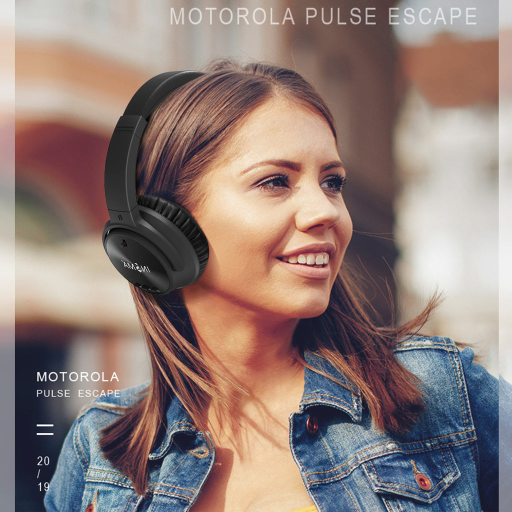 INSMA P1 Active Noise Cancelling bluetooth Headphone Flexible Handsfree Binaural Call Wired Headset With HD Mic