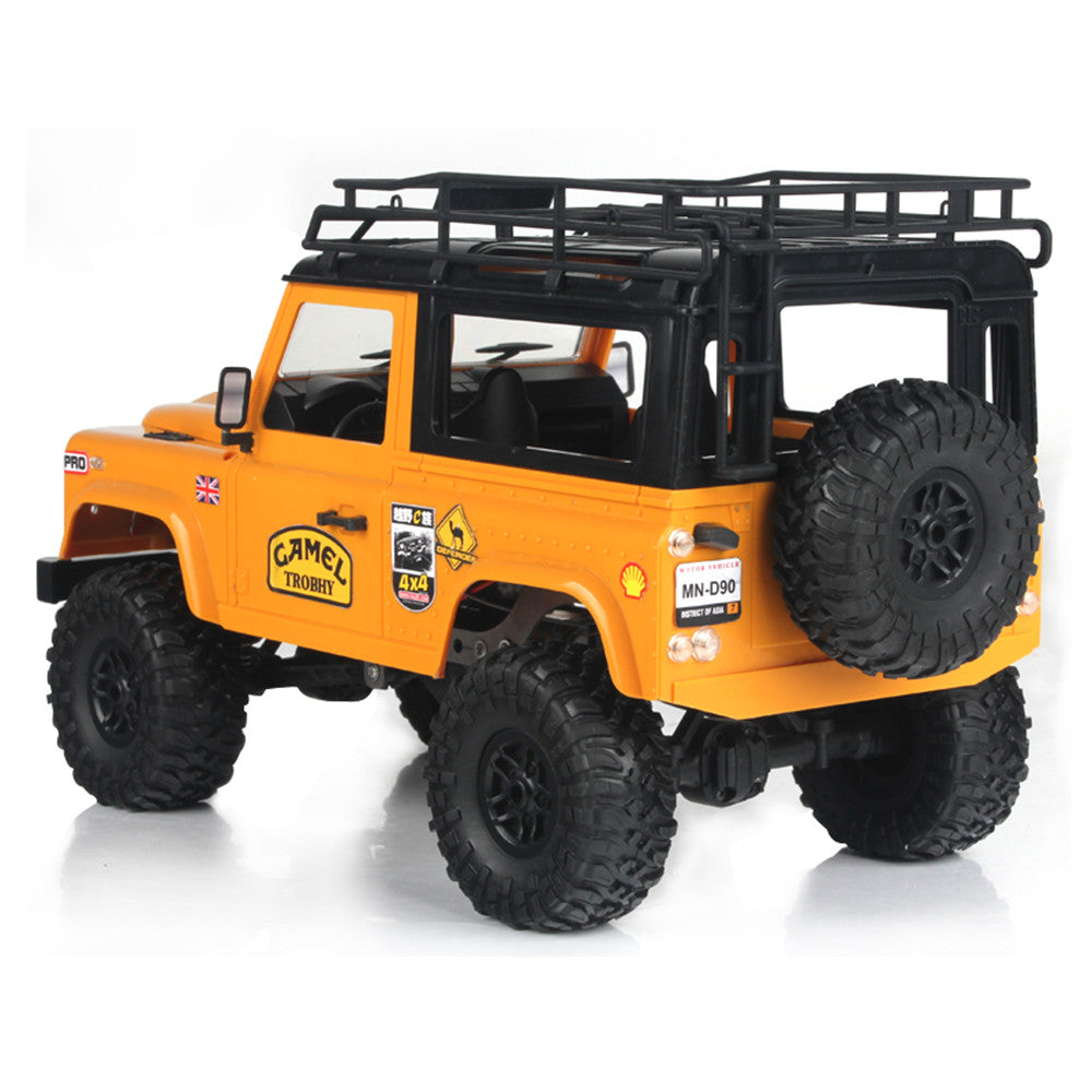 MN90 1/12 2.4G 4WD Rc Car W/ Front LED Light 2 Body Shell Roof Rack Crawler Monster Truck RTR Toy