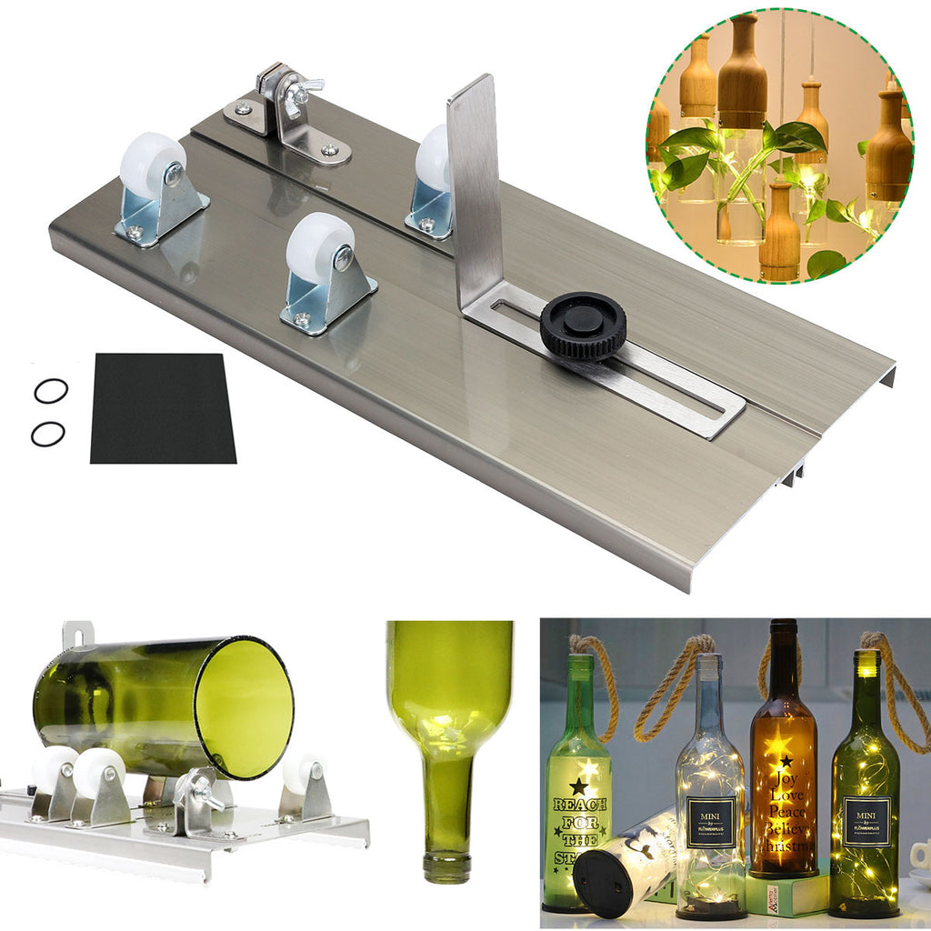 Glass Bottle Cutter Kit Make Glasses Bottles Cutter with Edge Sanding Paper