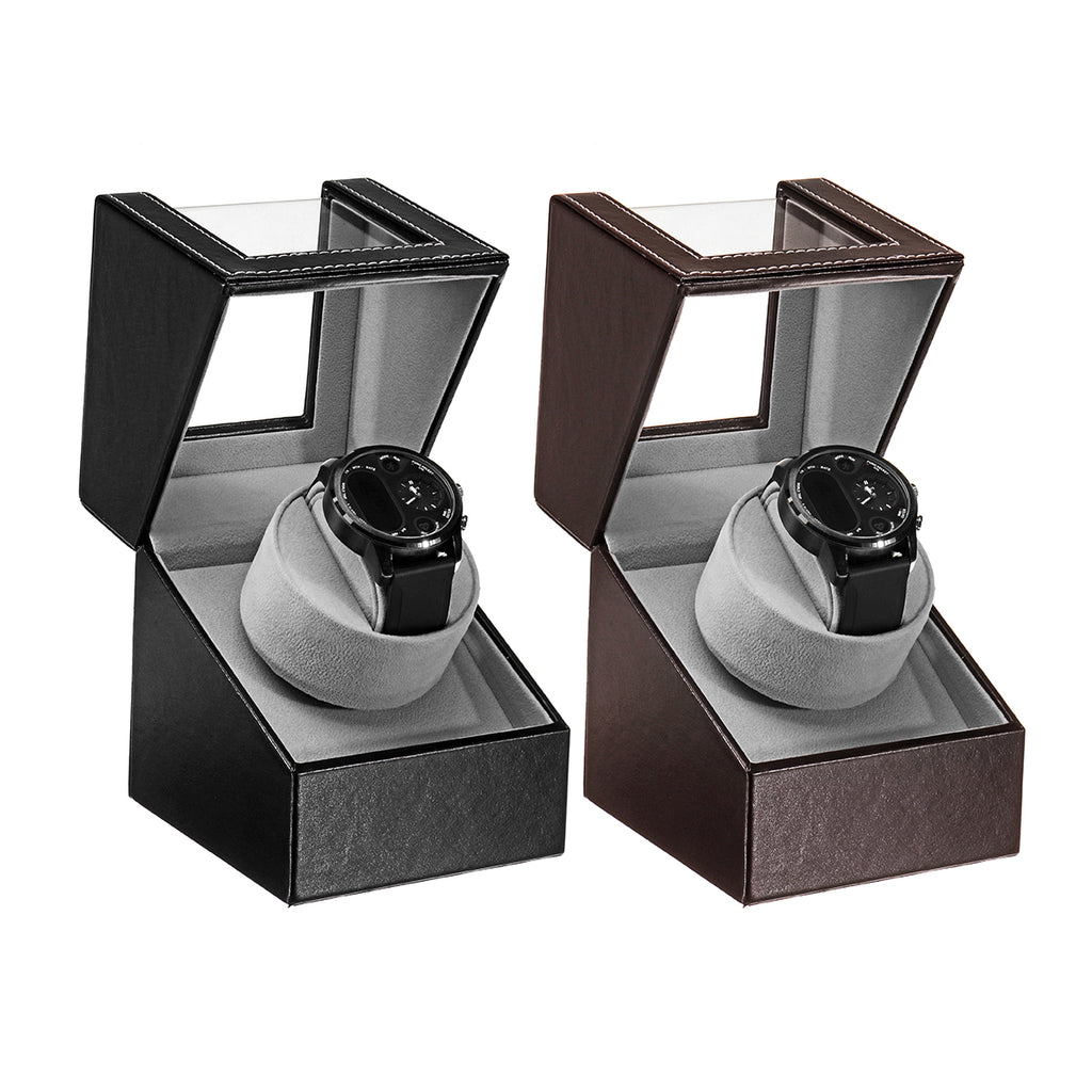 Automatic Watch Display Case Rotation Watch Winder Adjustable Display Holder Storage Box Mute Motor Watch Box