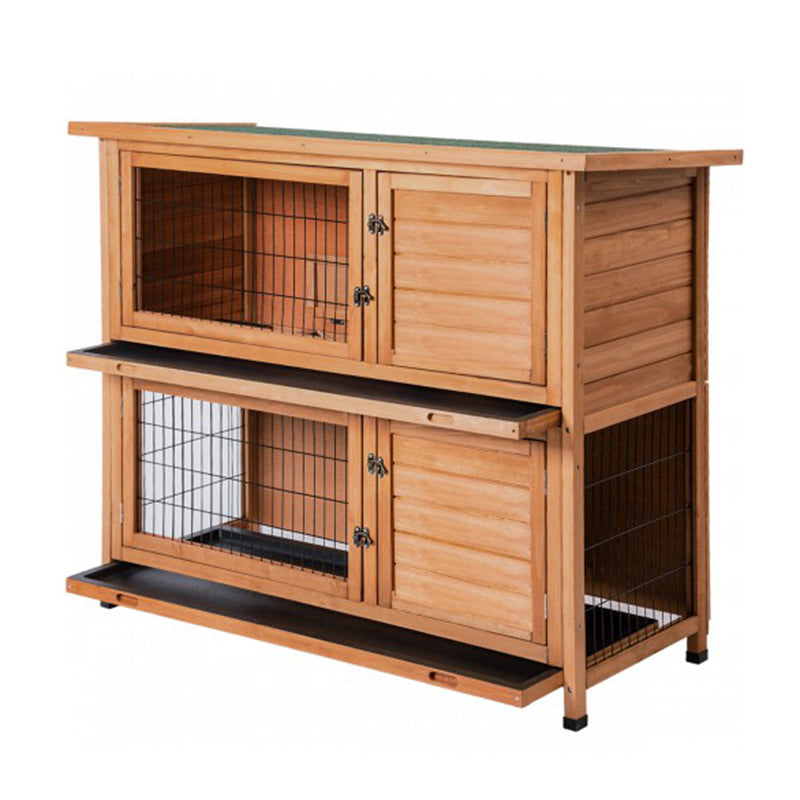 TOPMAX Chicken Coop Rabbit Hutch Wood House Pet Cage for Small Animals Pet Bed