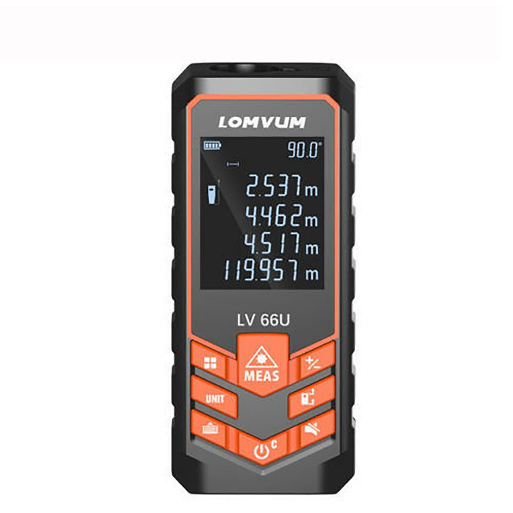 Laser Distance Meter Digital Measure Auto Level Range Finder 40-120M