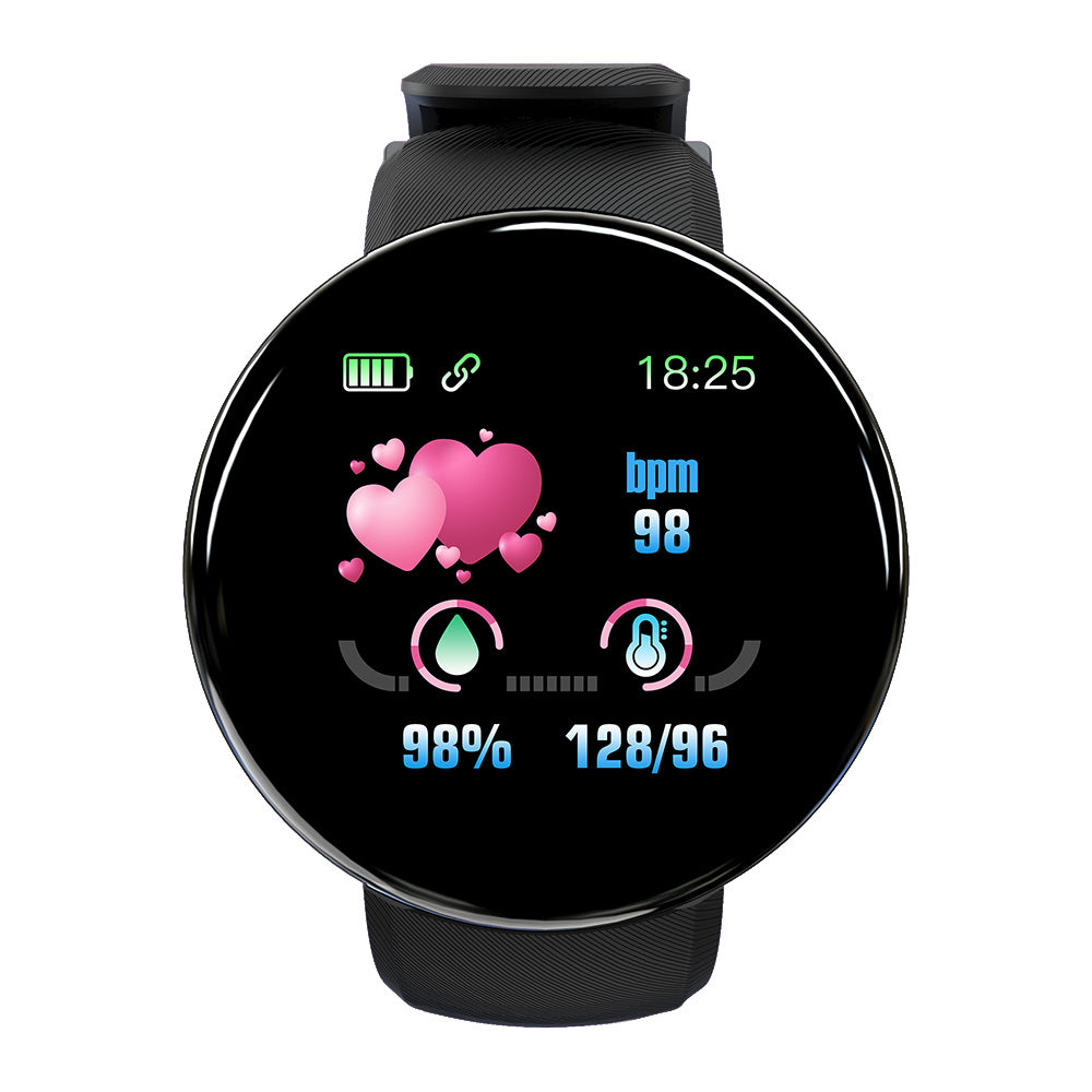 [SpO2 Monitor] Bakeey D18 Heart Rate Blood Pressure Monitor Real-time Informations Push USB Direct-charging Smart Watch
