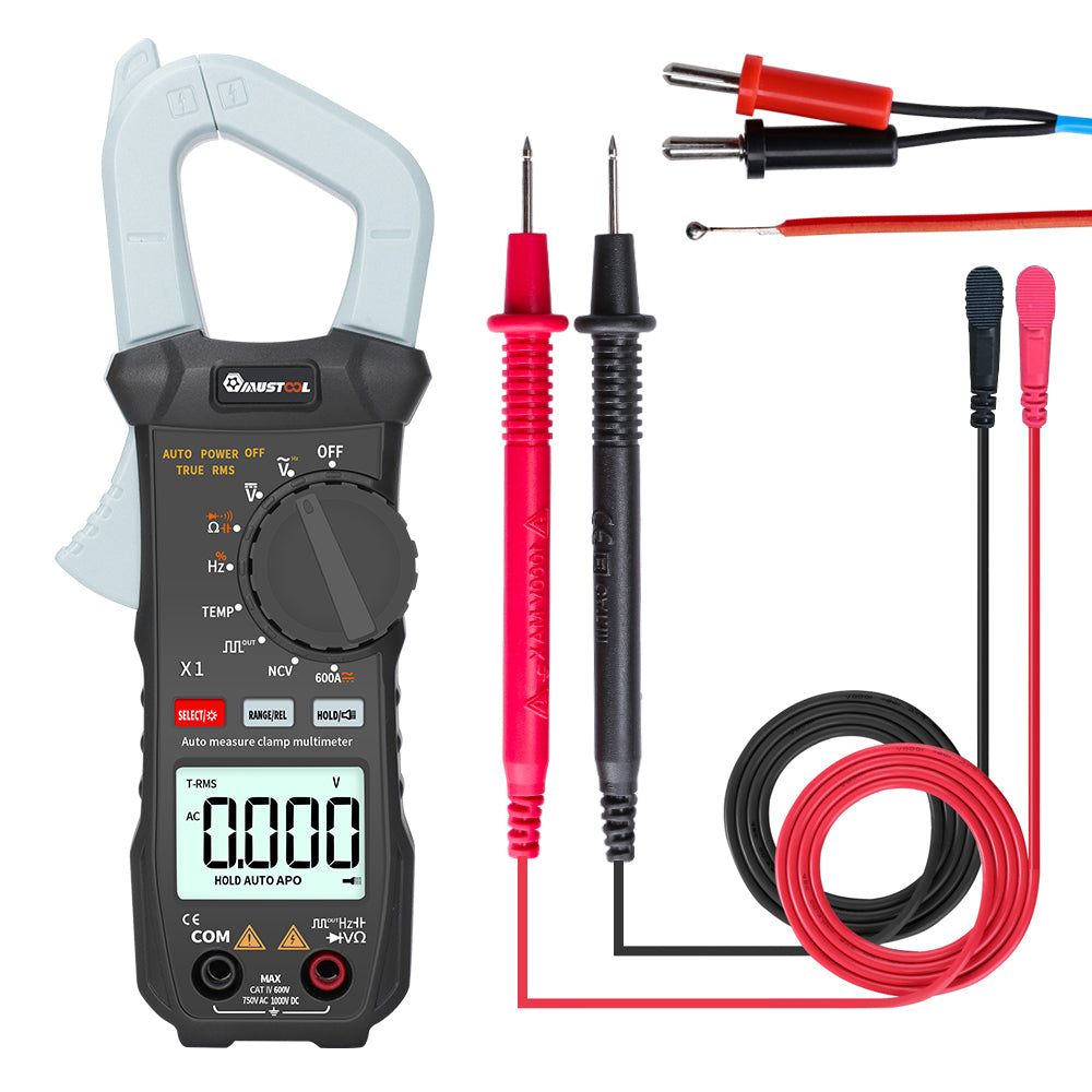 MUSTOOL X1 Pocket 6000 Counts True RMS Clamp Meter AC/DC Voltage&Current Digital Multimeter Automatic Digital Meter With Square Wave Output Ω/V/A/Diode/Frequency/Continuity Test