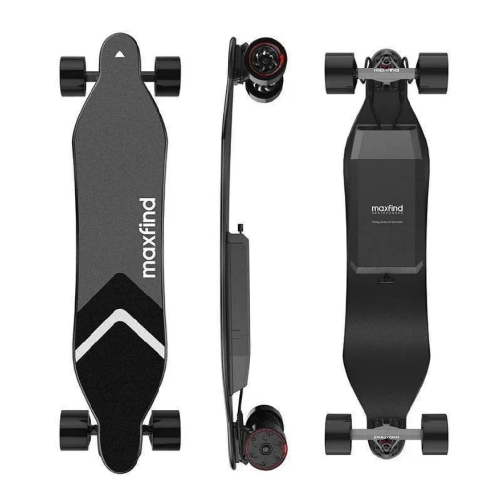 [US DIRECT] Maxfind Max4 Dual Motor Version 25 Mph 46.5 Miles Electric Skateboard 3 Modes Remote Control 100kg Max Load Skate Board