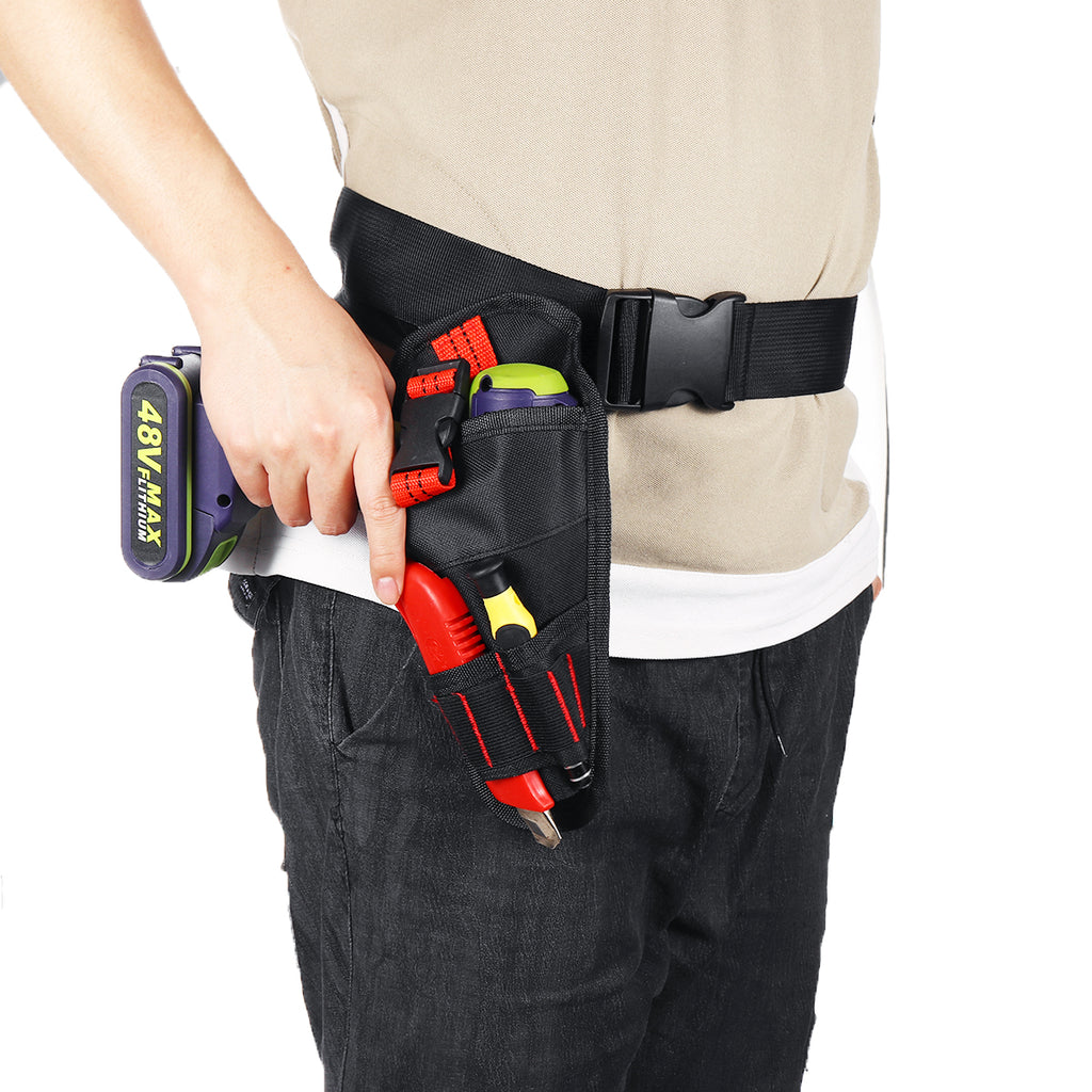 Heavy Duty Cordless Drill Holster Tool Belt Pouch Waist Pocket Tool Storage Bag