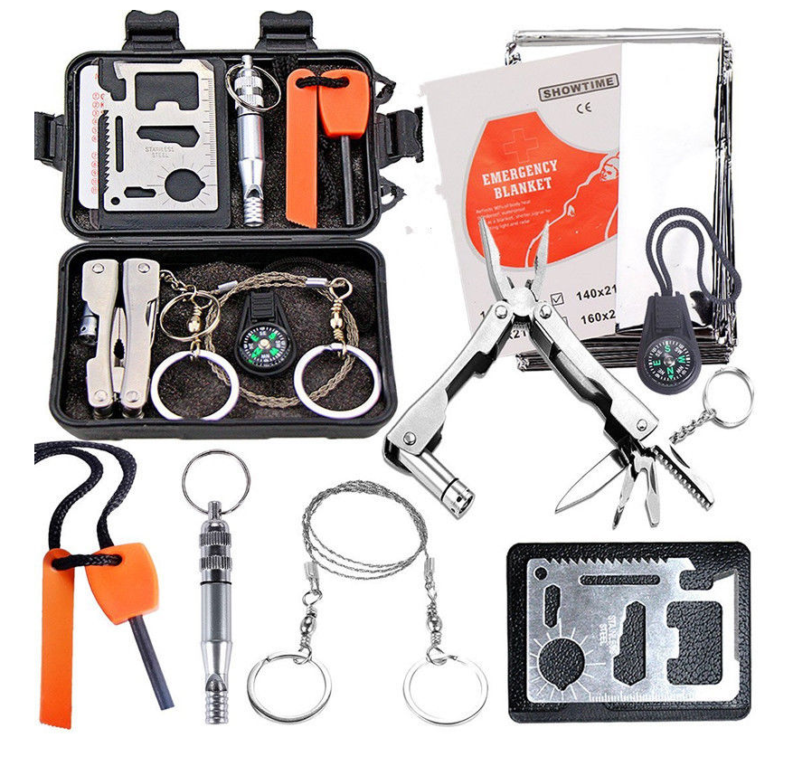 Emergency Survival Equipment Kit Outdoor Sports Tactical Hunting SOS Tools Kit