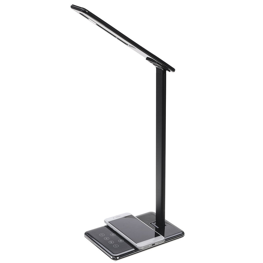 Desk Qi Wireless Charger Smart LED Lamp Phone Holder For Qi-enabled Smart Phone iPhone XS Max Samsung Galaxy S10 Plus