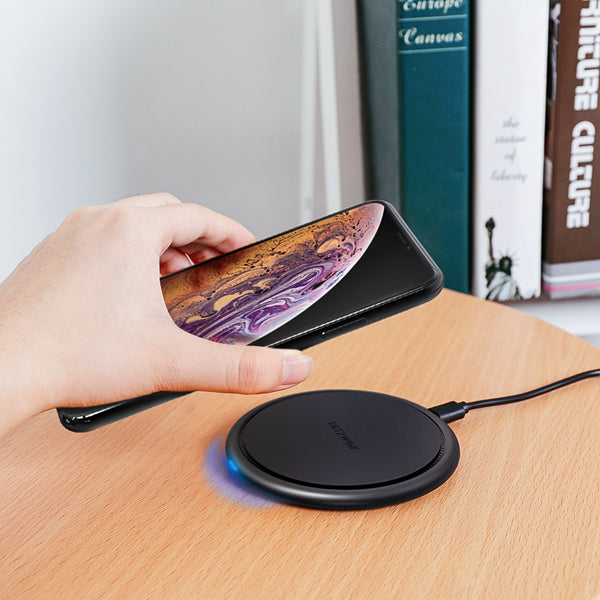 BW-FWC5 10W 7.5W 5W Fast Wireless Charger Charging Pad For iPhone XS MAX XR S9 Note 9