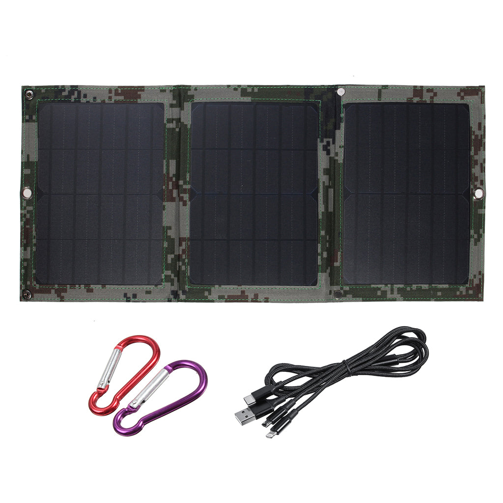 40W 5V Dual USB Sunpower Foldable Solar Panel Battery Charger Kits For Emergency Charging