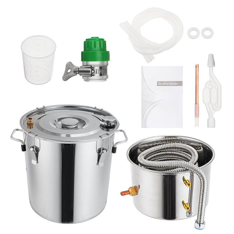 3GAL/5GAL/8GAL Water Distiller Alcohol Distiller Stainless Boiler Liquid Making Equipment Kit