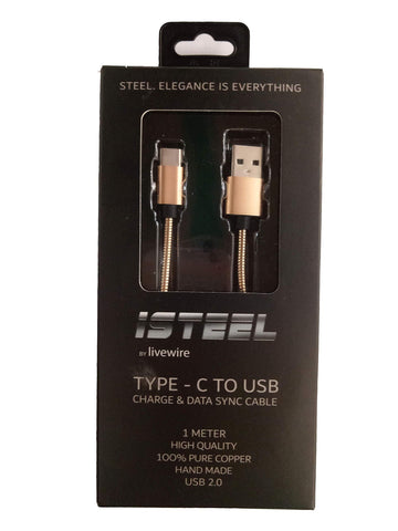 ISTEEL BY LIVEWIRE 2 IN 1 MICRO & LIGHTNING TO DATA SYNC CABLE