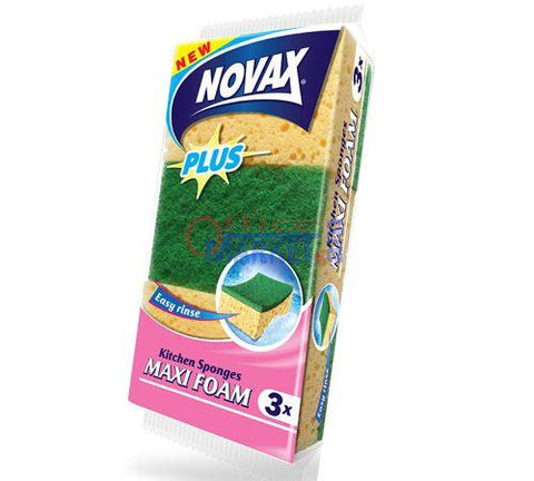 NOVAX  KITCHEN SPONGES MAXI FOAM 3'S