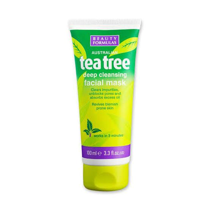 BEAUTY FORMULAS TEA TREE DEEP CLEANSING FACIAL MASK 100ML