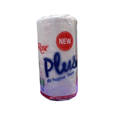 ROSE PLUS ALL PURPOSE SINGLE TOWEL TISSUE 2 PLY