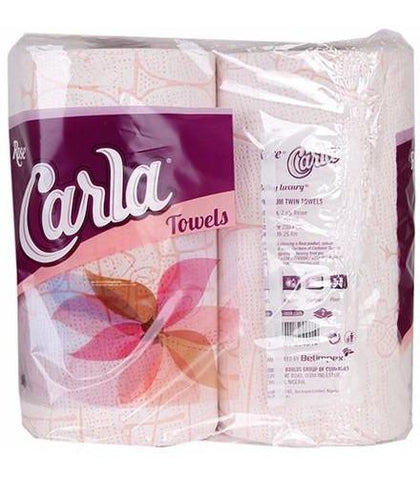 ROSE CARLA TWIN TOWELS 2 PLY TISSUE