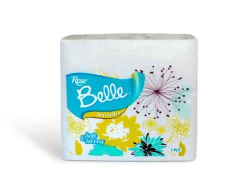 ROSE BELLE SERVIETTES SOFT & STRONG  1 PLY