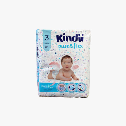 KINDII PURE & FLEX DIAPERS 4-9KG SIZE 3