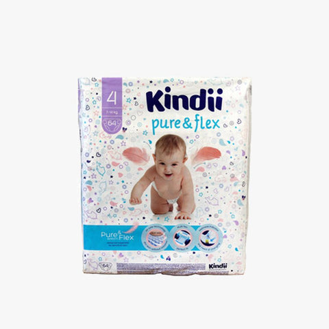 KINDII PURE &FLEX DIAPERS 7-14KG SIZE 4