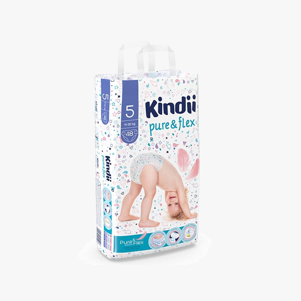 KINDII PURE & FLEX DIAPERS 11-20KG SIZE 5