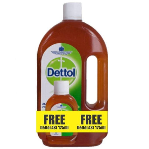 DETTOL ANTISEPTIC DISINFECTANT 1L + 125ML FREE