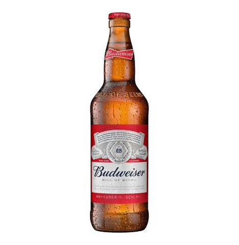 BUDWEISER BEER BOTTLE 600ML