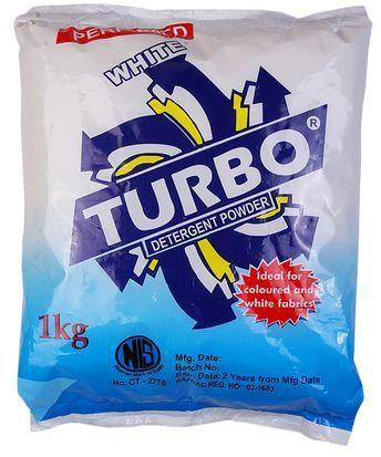 TURBO WHITE PERFUMED DETERGENT POWDER 1KG