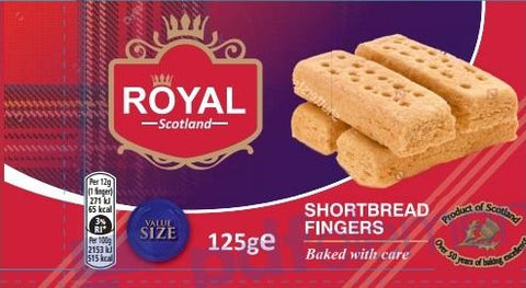 ROYAL SCOTLAND SHORTBREAD FINGERS 125G