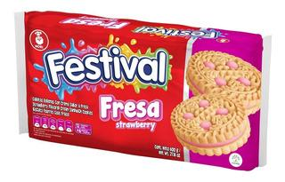 FESTIVAL FRESA STRAWBERRY 4 COOKIES  33.6g