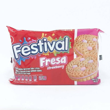 PACK FESTIVAL FRESA STRAWBERRY 6 COOKIES