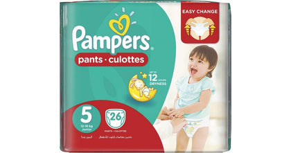 PAMPERS PANTS 5 JUNIOR 26PCS 12-18KG ECONOMY