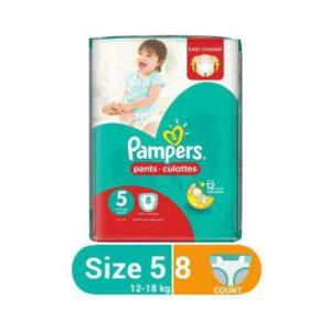 PAMPERS PANTS JUNIOR S5 8'S 12-18KG