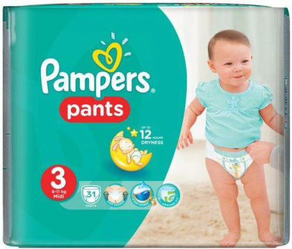 PAMPERS PANTS 3 MIDI 6-11KG 31'S ECONOMY