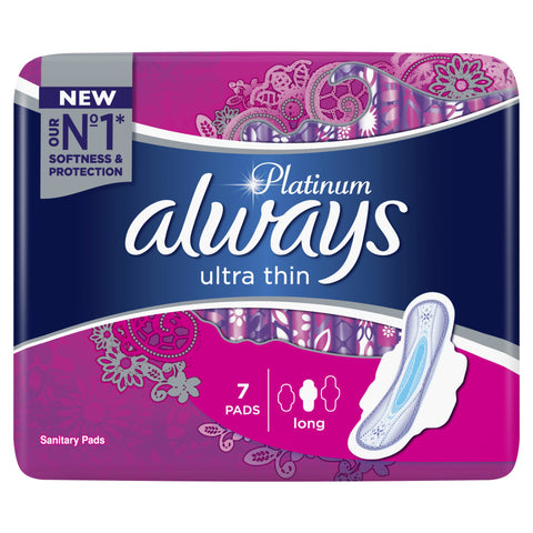 ALWAYS PLATINUM ULTRA THIN LONG 7 PAD