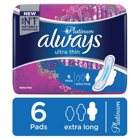 ALWAYS PLATINUM EXTRA LONG 6 PADS